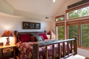 Guest bedroom at Park City Resort Properties.