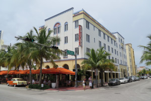 Exterior view of Edison Hotel South Beach.