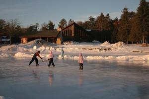 Ice skating at Grand View Lodge.