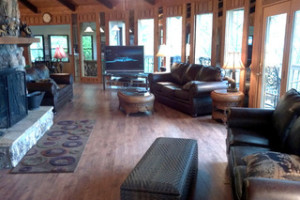 Living Room View at Baskins Creek Cabin Rentals