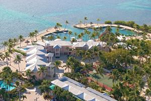 Aerial view of Chesapeake Beach Resort.