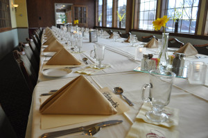 Private dining at Ehrhardt's Waterfront Resort.