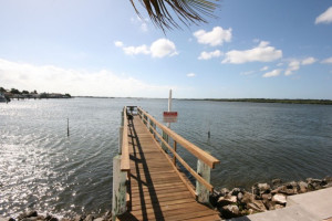 Fishing dock at Boca Ciega Resort