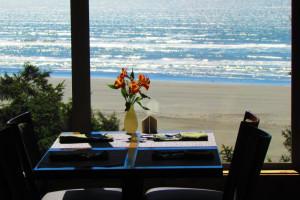 Dining at Ocean Crest Resort.