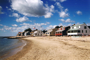 Beach houses at Hawk's Nest Beach.