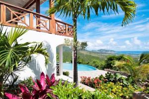 Villa exterior at Island Properties Luxury Rentals.