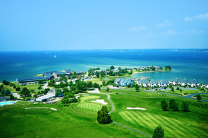 Arial View at Harbourtowne Golf Resort