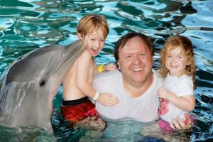 Swim with dolphins near Orange Hill Beach Inn.