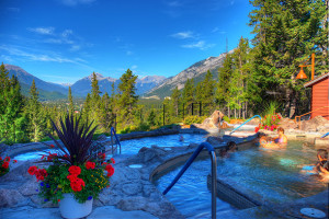 Outdoor pools at Hidden Ridge Resort.
