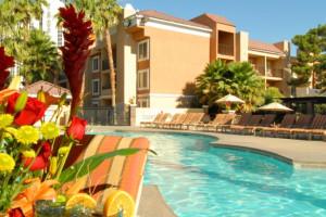 Outdoor pool at Desert Rose Resort.