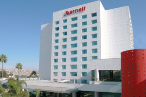 Exterior view of Tijuana Marriott Hotel.