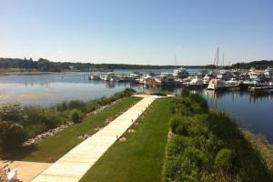 The marina at Weathervane Inn.