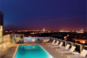 Outdoor pool at Churchill Suites DC.