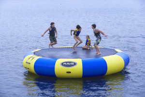 Water activities at Sandy Pines Resort.