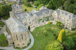 Aerial view of Alverton Manor.