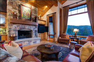 Vacation rental living room at SkyRun Vacation Rentals - Park City, Utah.