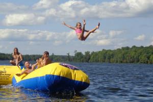Water activities at Woodland Beach Resort.