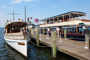 Lake Geneva boat tours at Harbor Shores.