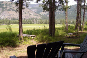 View from Timberline Meadows Lodges.
