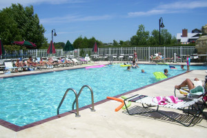 Outdoor pool at Bridgeport Waterfront Resort.