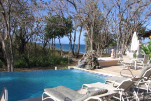 Outdoor pool at Villa Alegre Bed & Breakfast on the Beach.