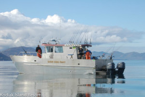 Fishing boat at Alaska's Kodiak Island Resort.