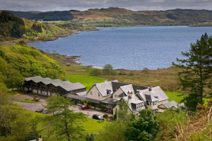 Exterior view of Loch Melfort Hotel.