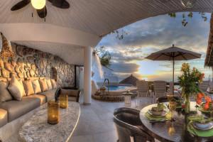 Villa patio at Ocho Cascadas Resort.