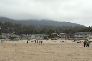 The beach at Manzanita Rental Company.