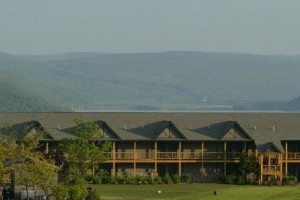 Exterior view of Bristol Harbour Resort.