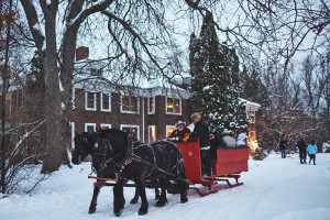 Sleigh ride at The Outing Lodge at Pine Point.