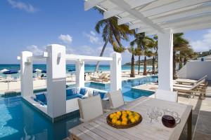 Vacation rental pool at Coral Beach Club.