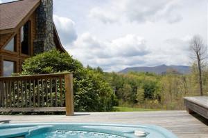 Rental hot tub at Ashe High Country Vacations LLC.