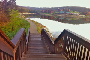 Walking path at Stonebridge Resort.