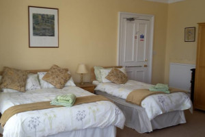 Guest room at Lindores.