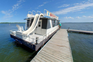 Houseboat at Hiawatha Beach Resort.