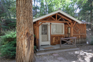 Cabin exterior at River Orchard Place.
