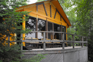 Cabin Exterior at Garden Island Lodge