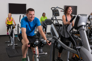 Fitness center at Eaglewood Resort.