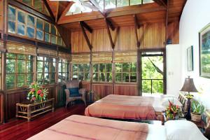 Guest room at Aguila de Osa Inn.
