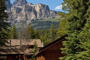 Mountain view at Castle Mountain Village.