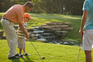 Golf lessons at Hyatt Regency Lost Pines Resort and Spa.