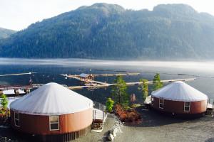 Yurts at Nootka Marine Adventures.