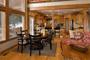 Vacation rental interior at Zion Ponderosa Ranch.