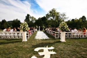 Wedding ceremony at Stonewall Resort.