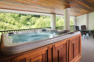 Guest hot tub at Bonneville Hot Springs Resort & Spa.