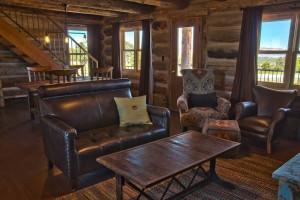 Cabin interior at Zion Mountain Ranch.