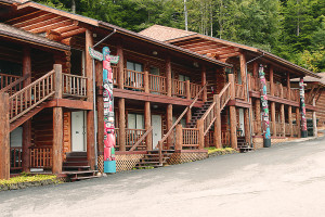 Exterior view of Salmon Falls Resort.