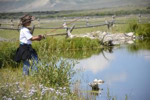 Fishing at Goosewing Ranch.