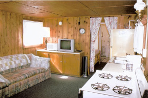 Cabin interior at Lake George Resort.